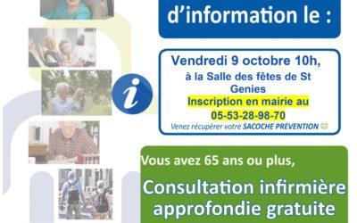 Réunion d'information // consultation prévention santé