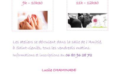 Nouvel atelier – Massage bébé / chant prénatal